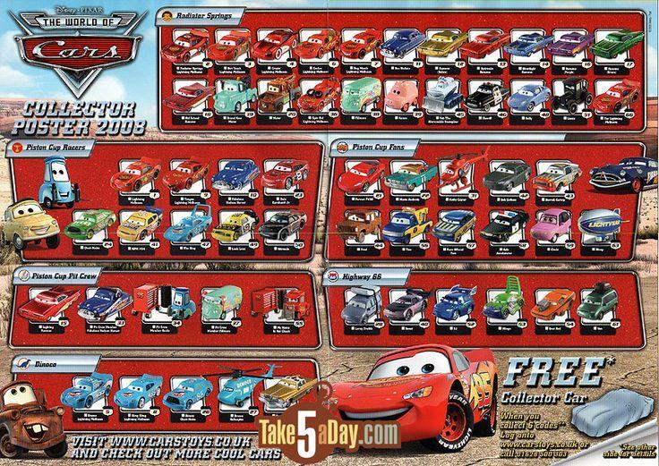 Mattel Disney Pixar Diecast CARS Disney cars toys