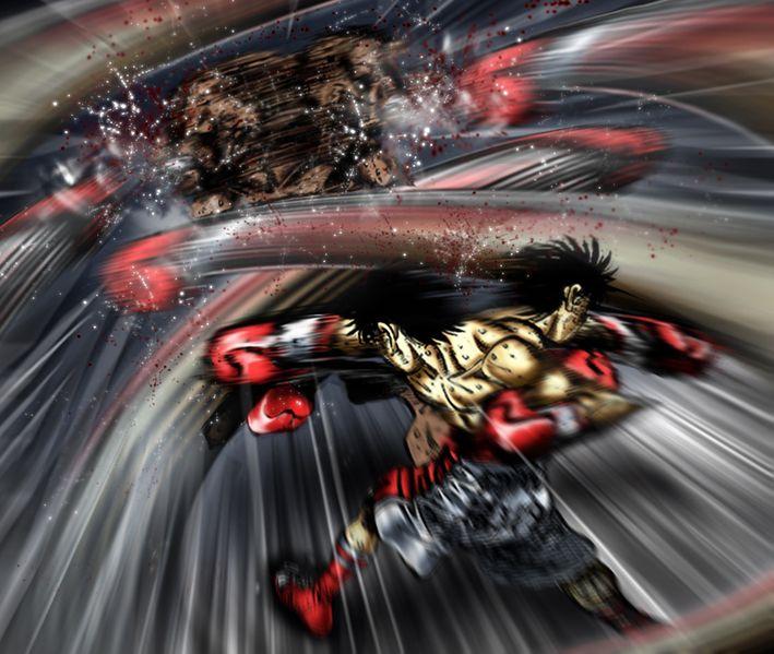 Hajime No Ippo Ippo VS Geedo By Rec0.deviantart.com On