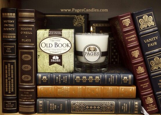 Old Book scented candle!