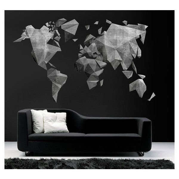 World map cement effect decal large world map vinyl wall sticker world map cement effect decal large world map vinyl wall sticker world publicscrutiny Images