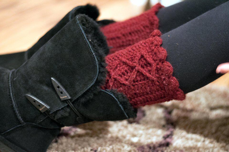 Crochet Boot cuffs!