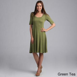 24/7 Comfort Apparel Women's Solid Knee-length Dress | Overstock.com.... Potential dress for Louise costume?