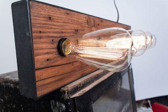 Hand made reclaimed wood vanity light