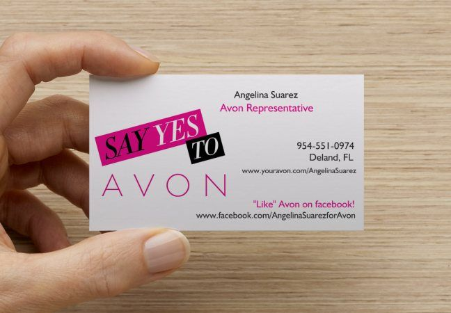 So Excited To Receive My New Avon Business Cards From