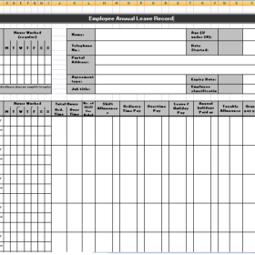 Employee Leave Record Format In Excel from i.pinimg.com