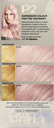 Loreal Feria Smokey Pink Fading Hair Dye Paris Dyed
