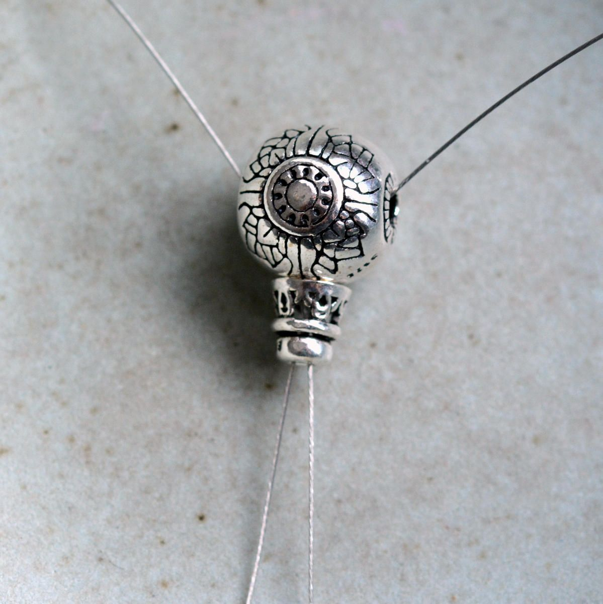 8 MM CHARM WITH HOLE ONE SMALL STERLING SILVER SHINY /'HAND MADE/' FLOWER TAG