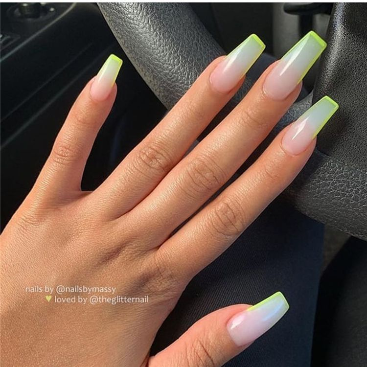 50 Gorgeous And Beautiful Summer time Coffin Acrylic Nail Designs For