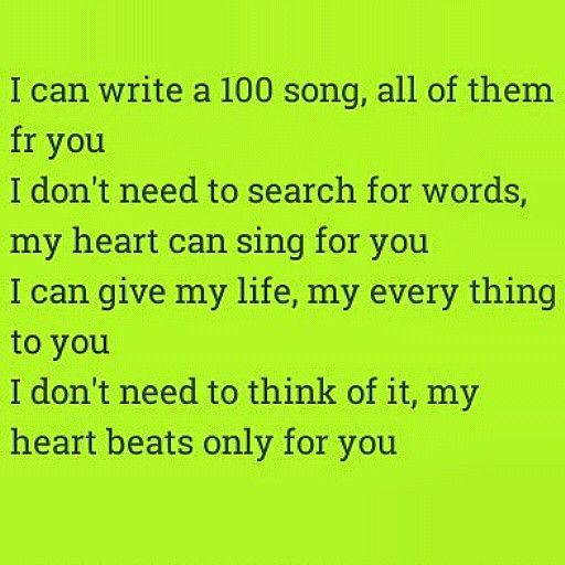 #100 #songs #poem #writing