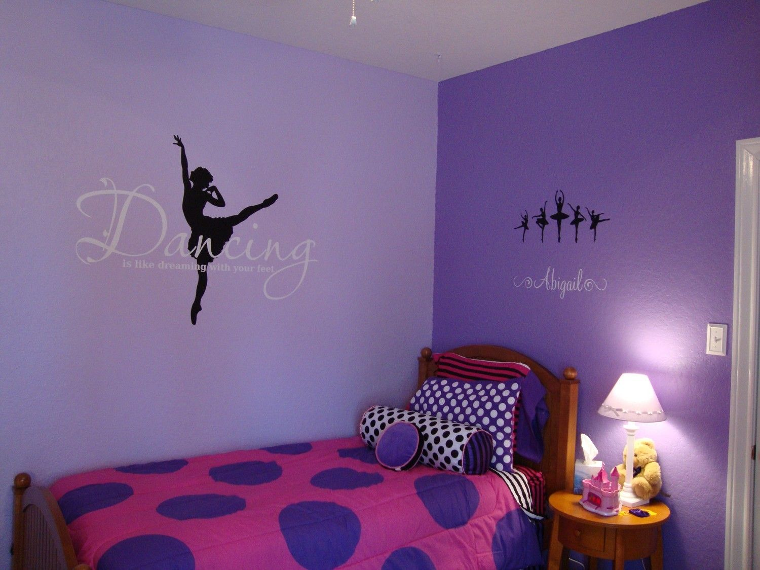 Ballerina Dancer Personalized Name X Vinyl Wall Lettering - Custom vinyl wall decals dance