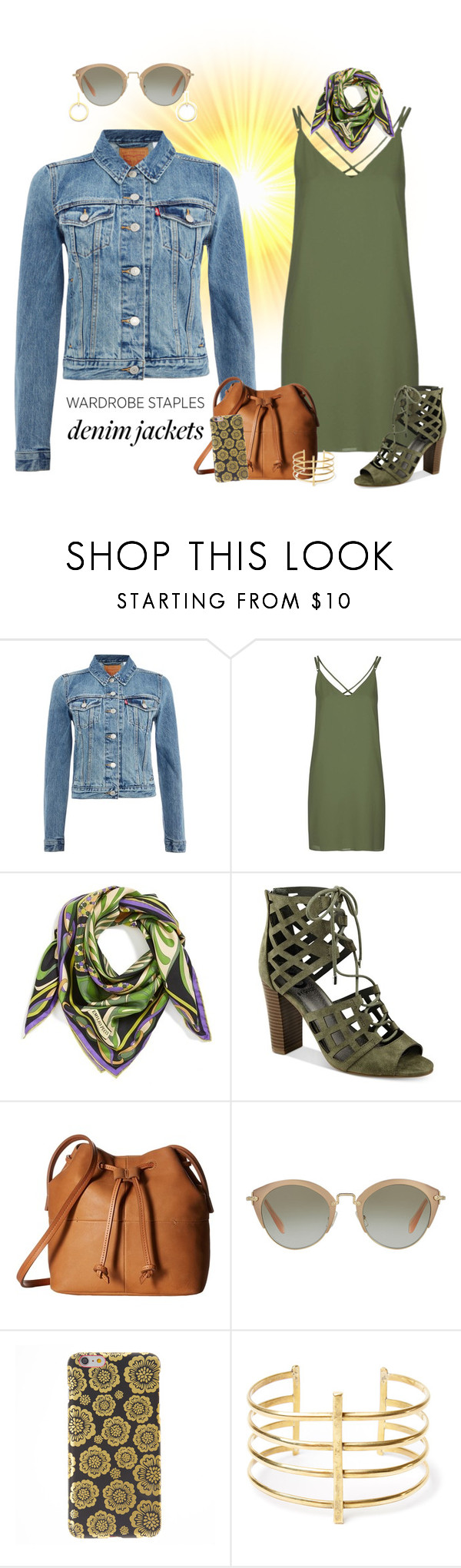 """Late Summer ..."" by krusie ❤ liked on Polyvore featuring Levi's, Topshop, Emilio Pucci, G by Guess, ECCO, Miu Miu, BauXo and Vita Fede"