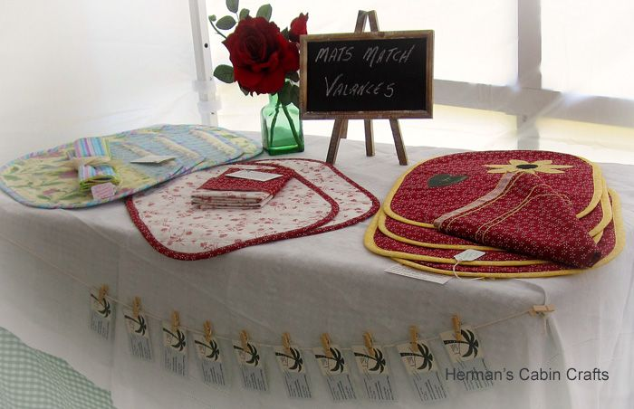 Beau Quilted Placemats From Vintage Tablecloths Are Fun And Sturdy.