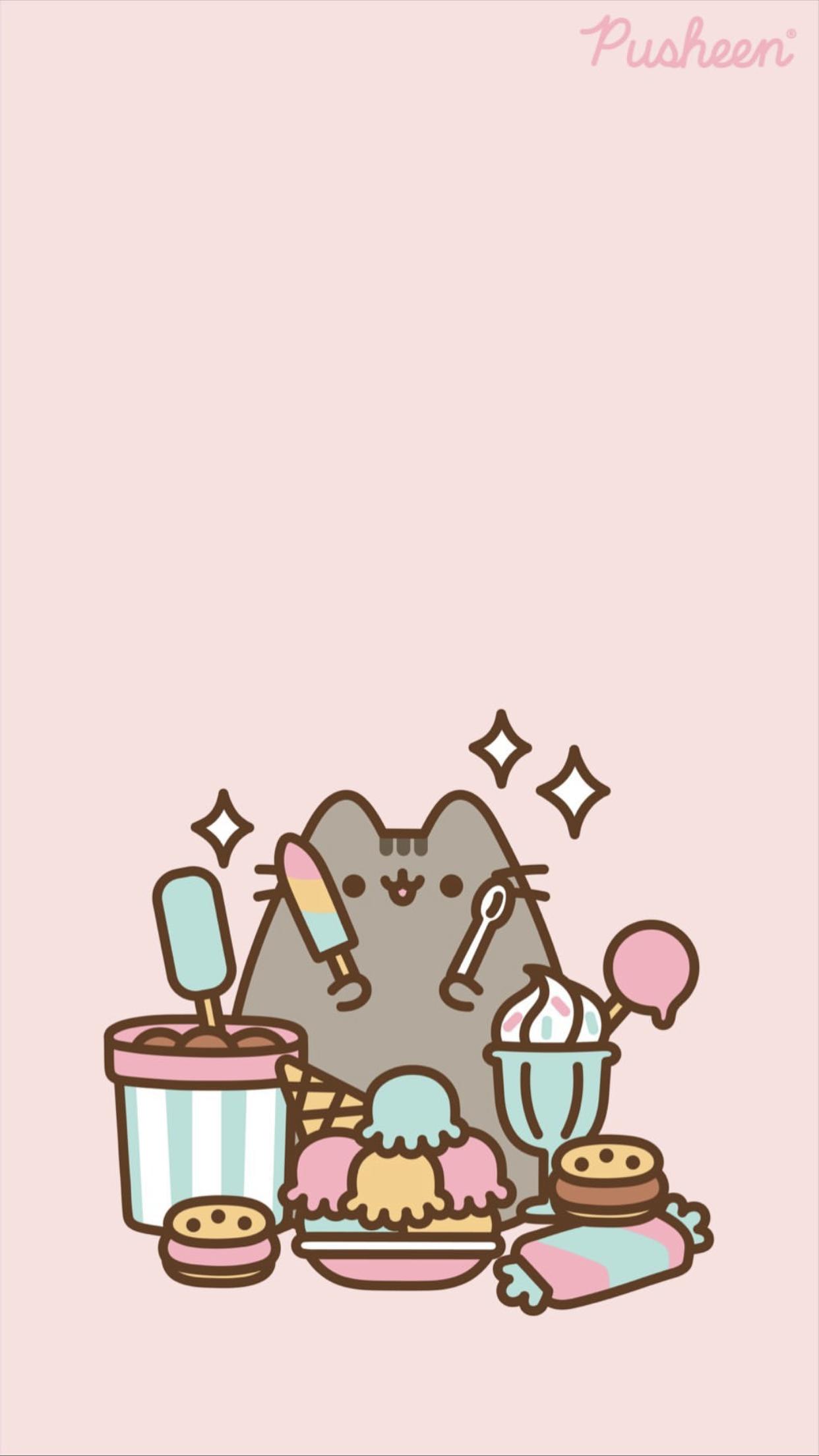Pusheen The Cat Iphone Wallpaper Pusheen Cute Pusheen Pusheen Cat