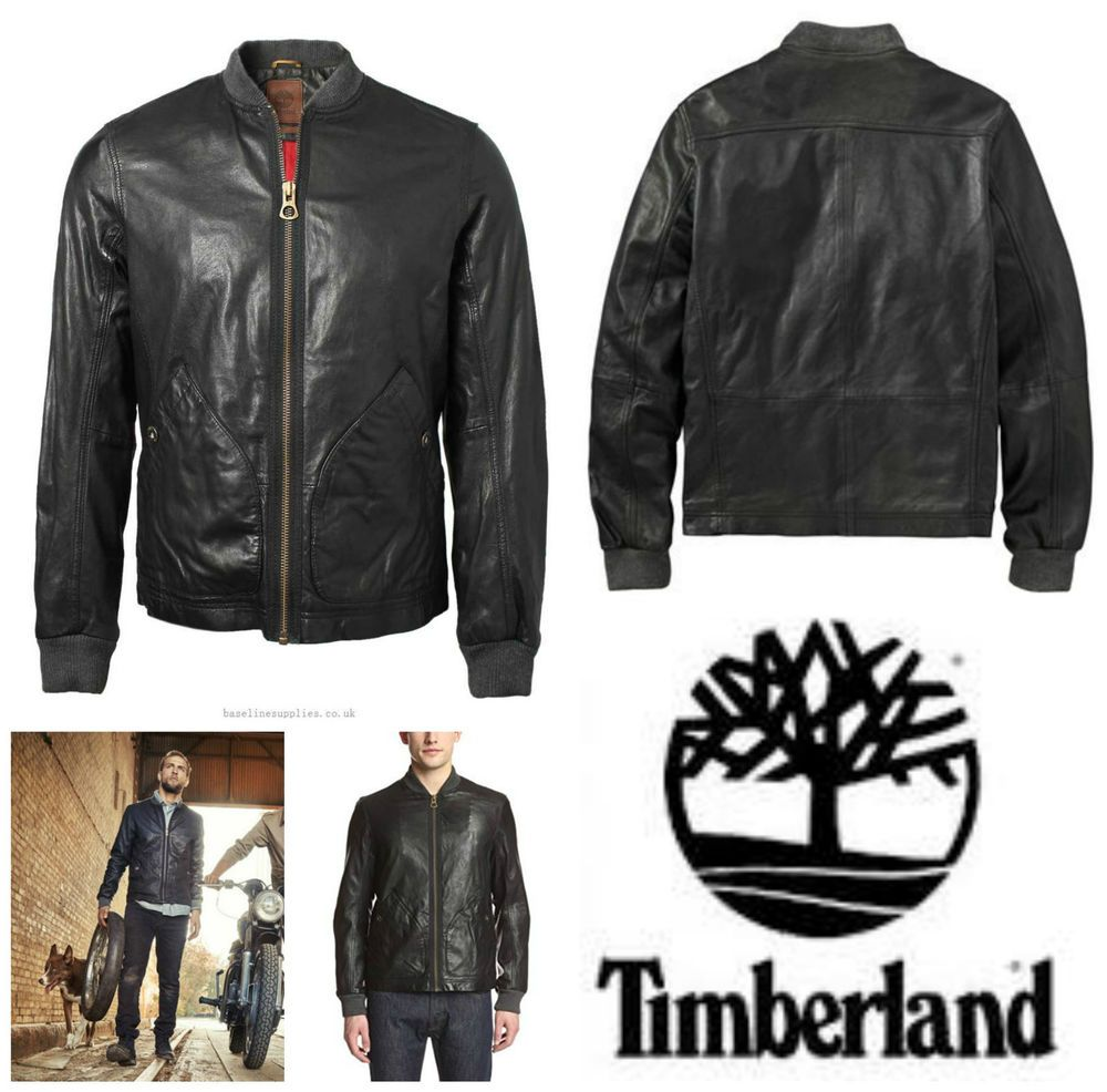 5efa99c3129 MENS TIMBERLAND MOUNT WEBSTER LAMBSKIN LEATHER BOMBER JACKET BIKER COAT M  £648  Timberland  BomberBikerJackets