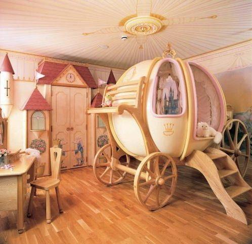 chambre, décoration, princesse, carosse, cendrillon | Cendrillon ...