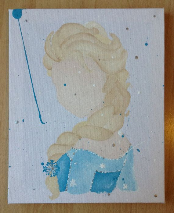 Disney Frozen Elsa Abstract Painting On Canvas