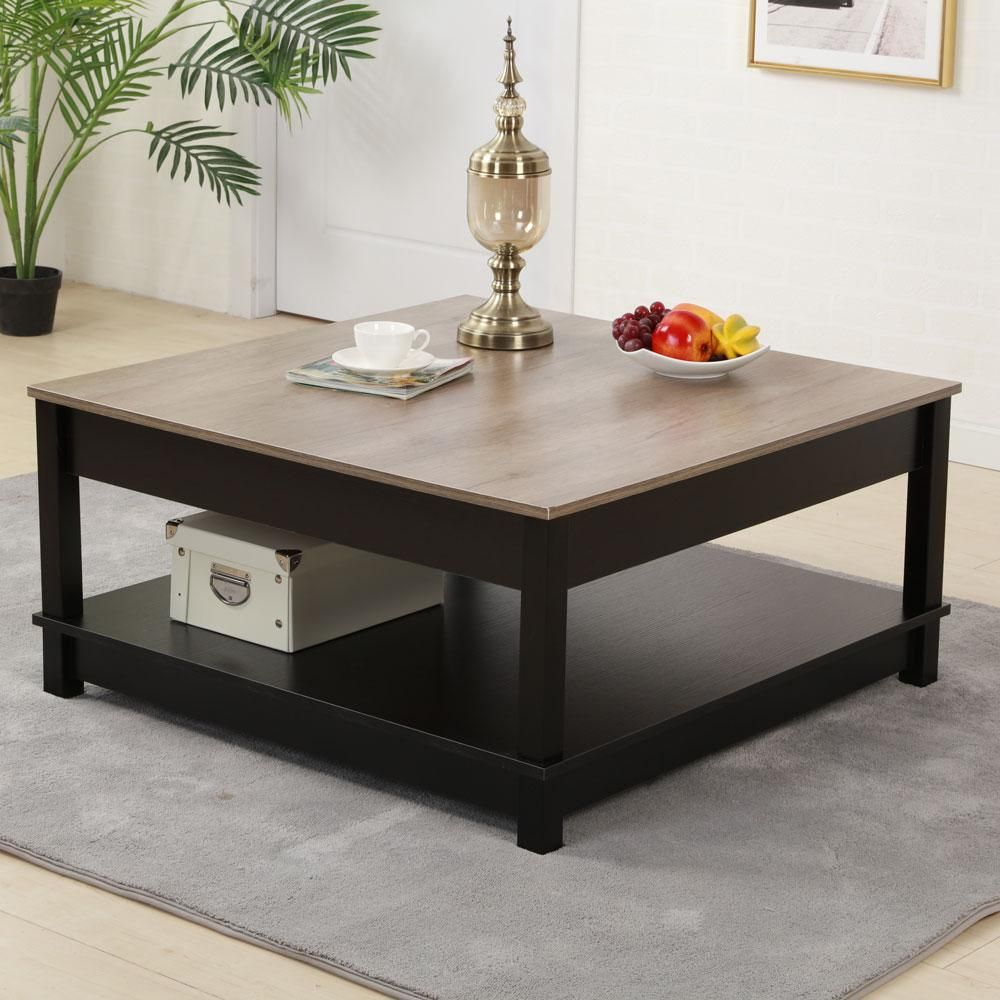 Carver Storage Modern Square Coffee Table Coffee Table Modern