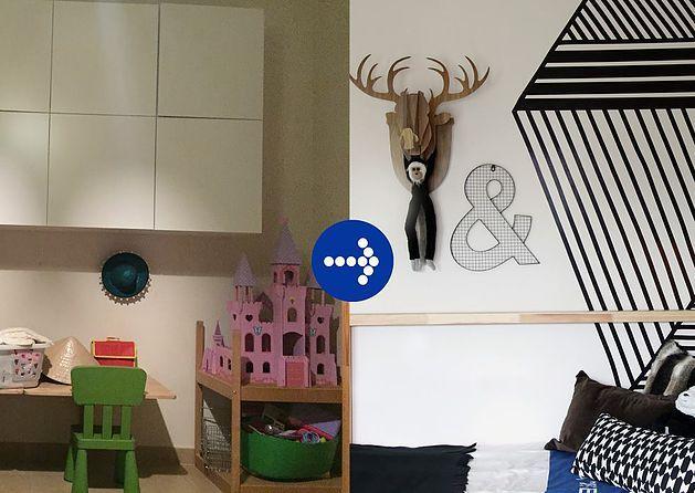 Boy's room makeover #harfnoondesignstudio #littleman #bigboy#makeover #blue #indigo #white #red #color #superkid #camera#animals #moose #fun #interiors #boyrooms#instainteriors #instadecor #instalikes #dubai #uae#abudhabi #homedecor #homedesign #kidsrooms#middleeast