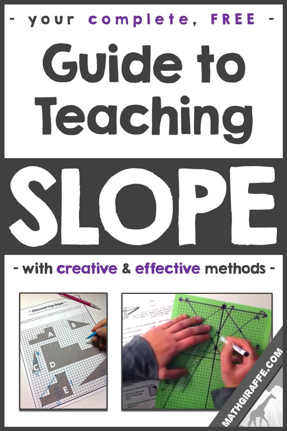 Complete, Free Guide To Teaching Slope Of A Line (pdf Download)
