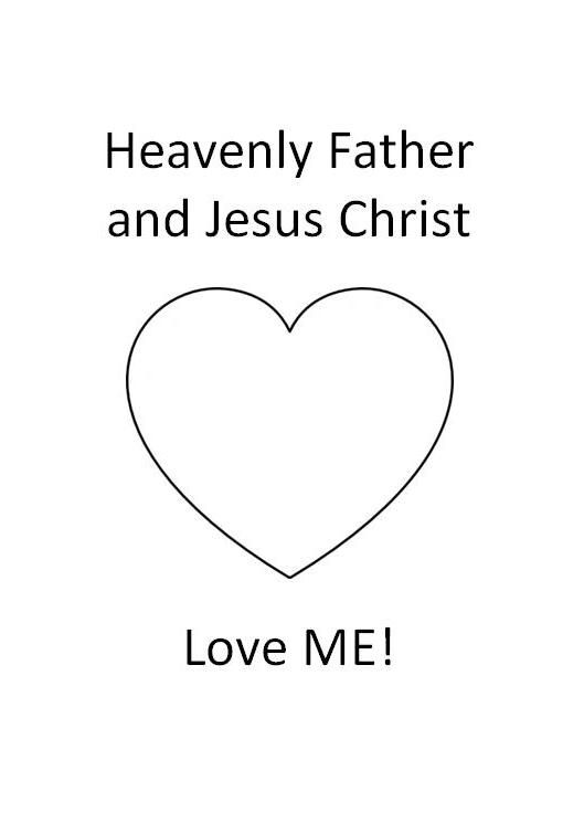 LDS Nursery Color Pages 6 - Heavenly Father \ Jesus Love Me - copy christian nursery coloring pages