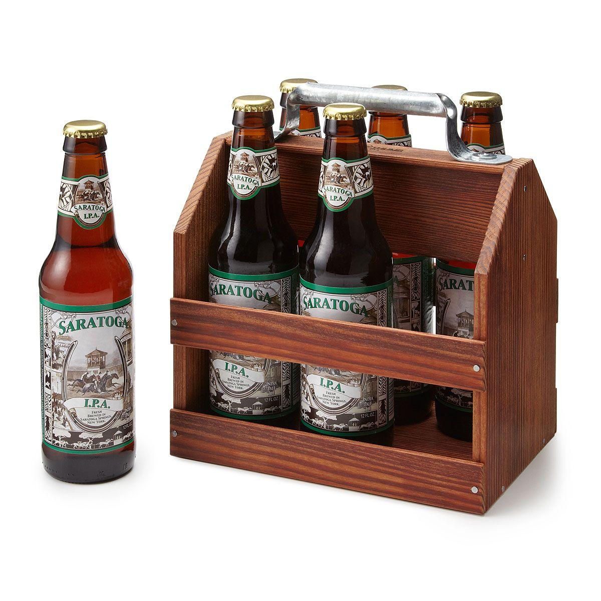 Wooden 6 Pack Beer Tote Beer Holder Carrier Bottle