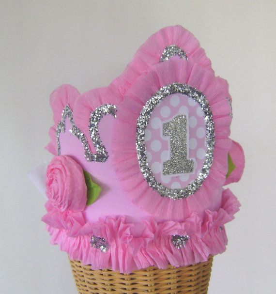 1st Birthday Crown Hat   or any number by glamhatter on Etsy, $24.00
