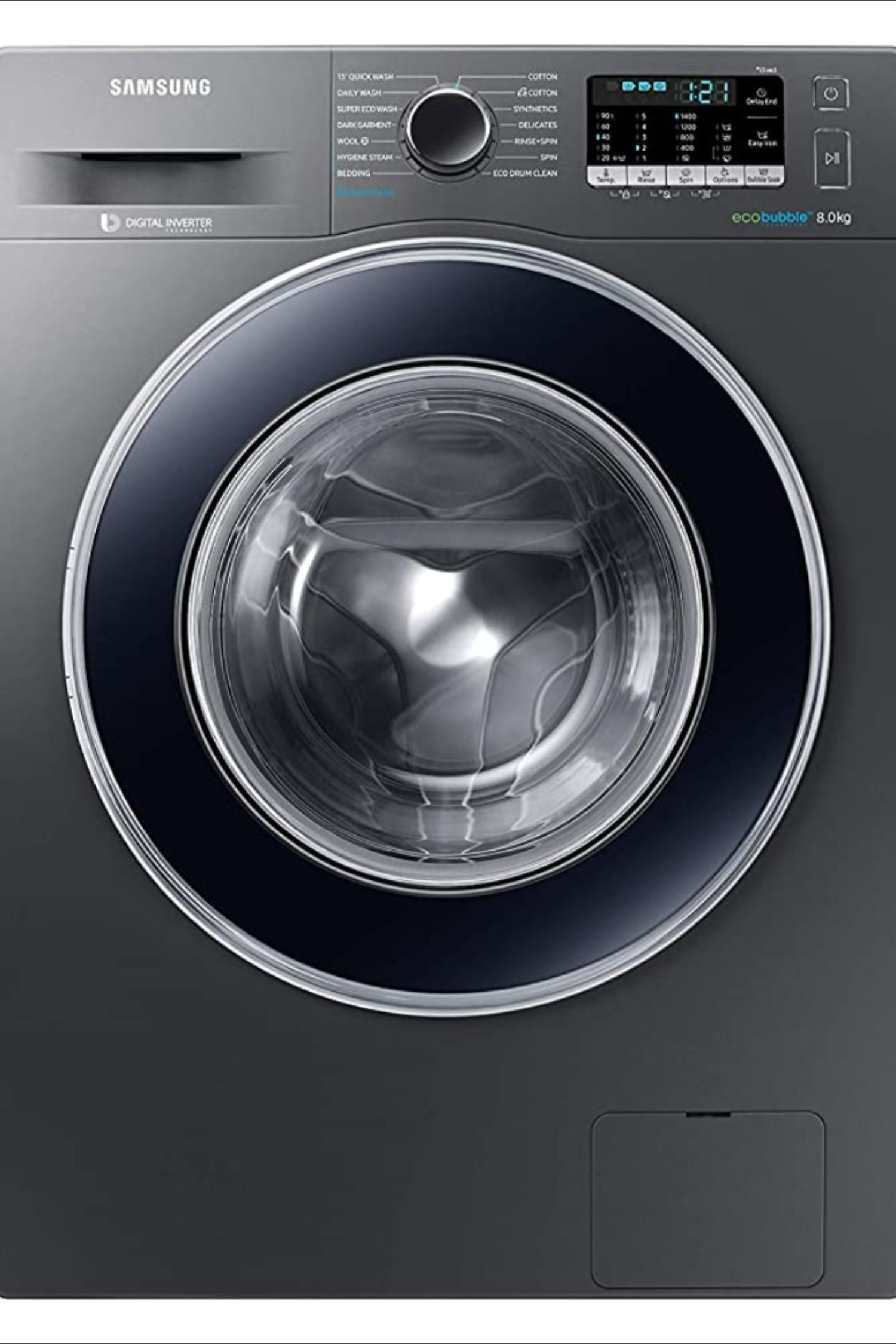 Samsung 8 Kg Fully Automatic Front Loading Washing Machine In 2020 At Home Store Washing Machine Ceramic Heater