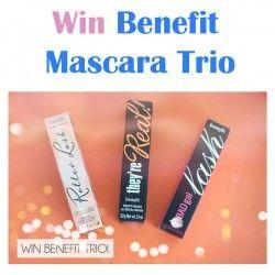 Win Benefit Mascara Trio ^_^ http://www.pintalabios.info/en/fashion-giveaways/view/en/3252 #International #MakeUp #bbloggers #Giweaway