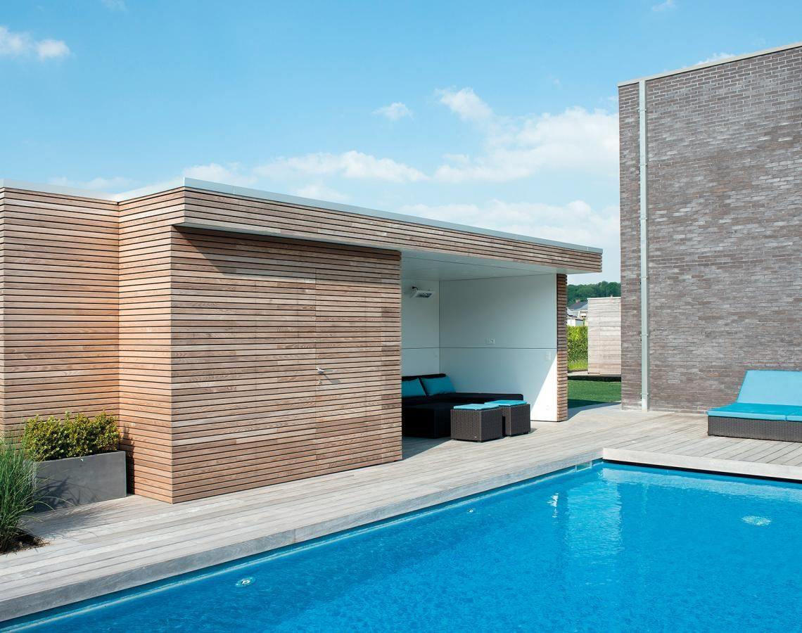 Our modern pool houses offer a practical addition to your