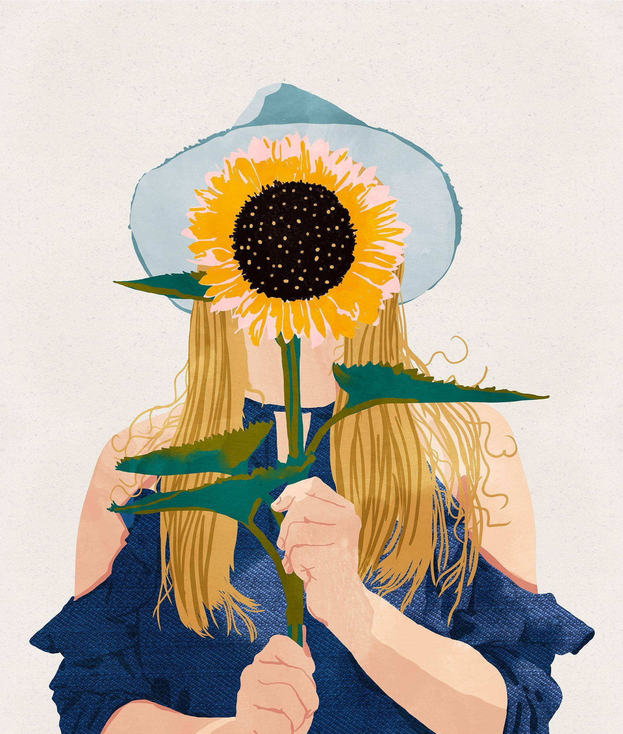 83 Oranges® | Sunflower illustration, Sunflower art ...