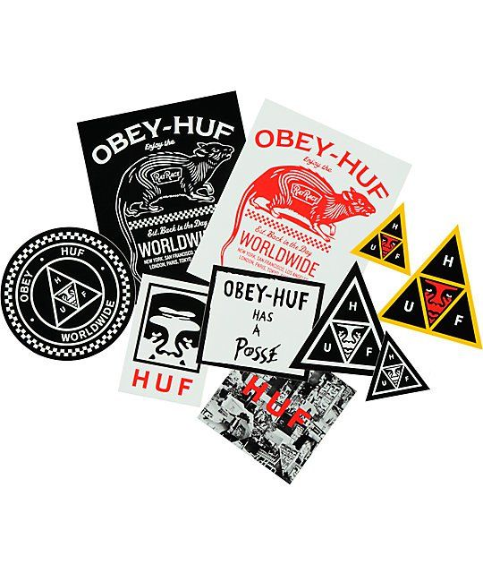 Huf x obey sticker pack zumiez