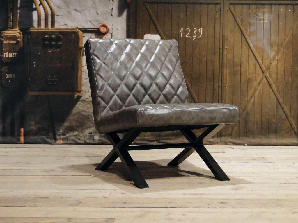 Leren Lounge Fauteuil.Industriele Fauteuil Muret Leren Fauteuils Robuuste Tafels