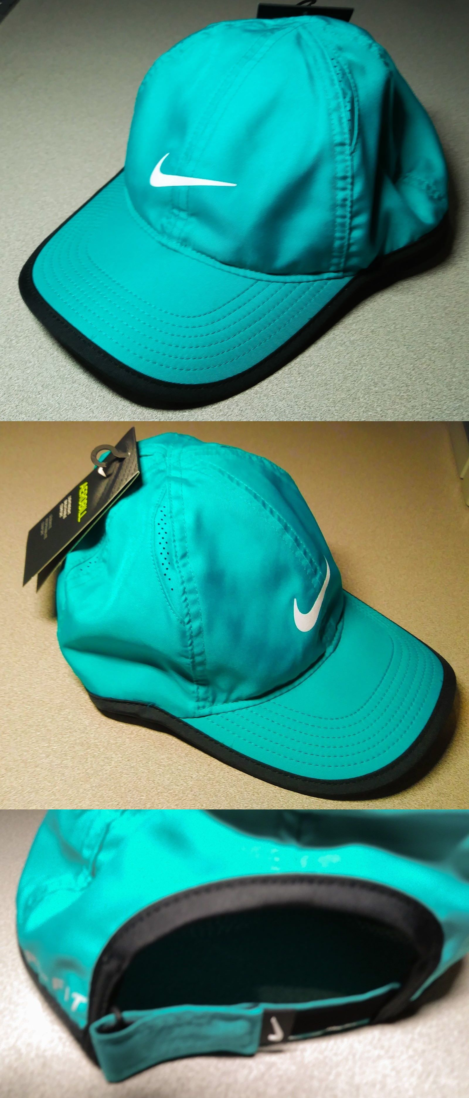 26c9e795edddd Hats 57884  Nike Featherlight Youth Cap Hat Teal Velcro Back Nwt 739376-311  Youth
