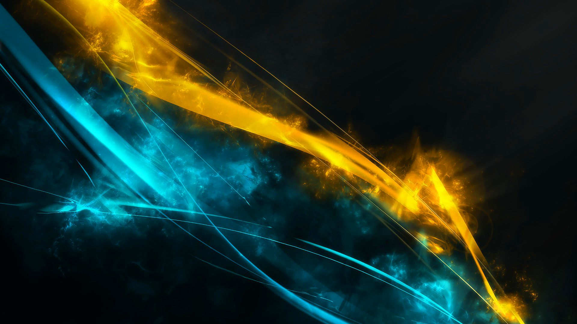 blue and yellow wallpapers Blue wallpapers, Abstract