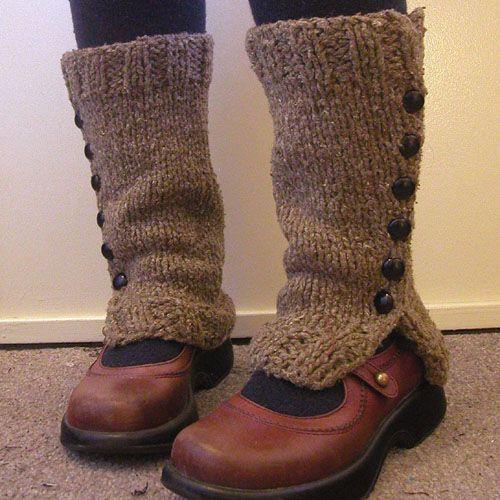We Like Knitting: Spatwarmers - Free Pattern | My Yarn | Pinterest ...
