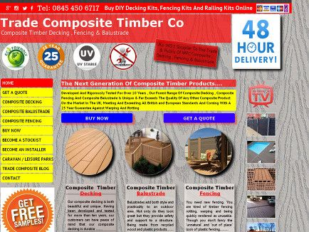 Trade WPC Composite Decking Fencing Balustrade