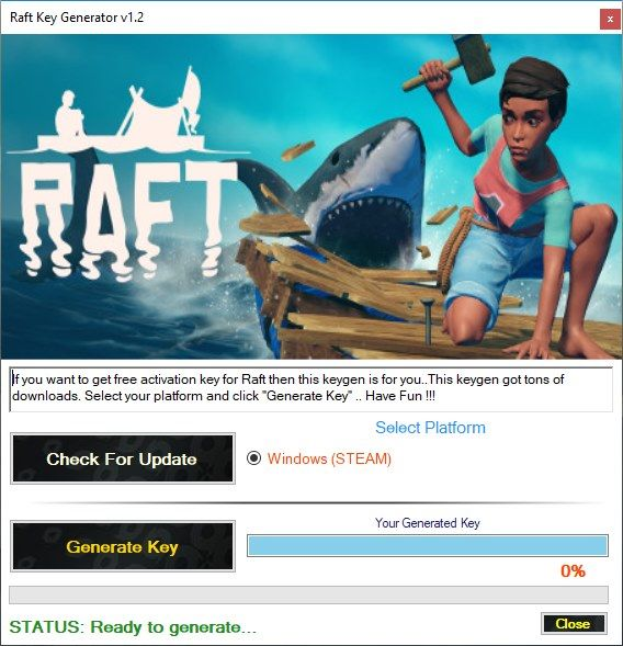 Raft Key Generator (STEAM) v1 2 | Free Game Keygens and