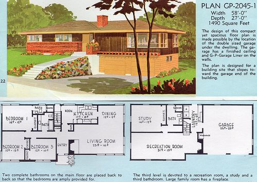 1962 Georgia Pacific Ethan Flickr Vintage House Plans House Plans With Pictures Mid Century Modern House Plans
