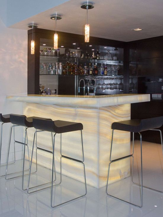 Adorable Contemporary Home Bar Table With Cool Bar Pendant Lights With  Black Modern Bar Stools Also Black Bar Cabinet And Shelves For Glasses And  Bottle ...