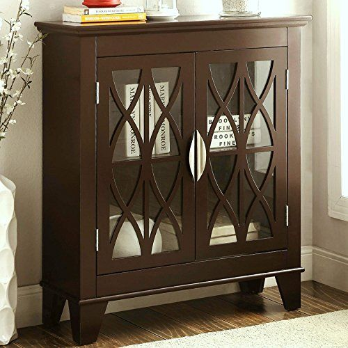 A Line Furniture Transitional Design Accent Cabinet With Decorative