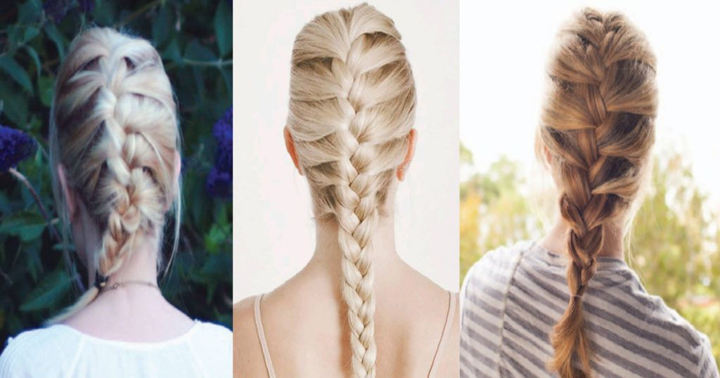 How To French Braid Your Own Hair For Beginners in 2020 | Easy hairstyles for medium hair ...
