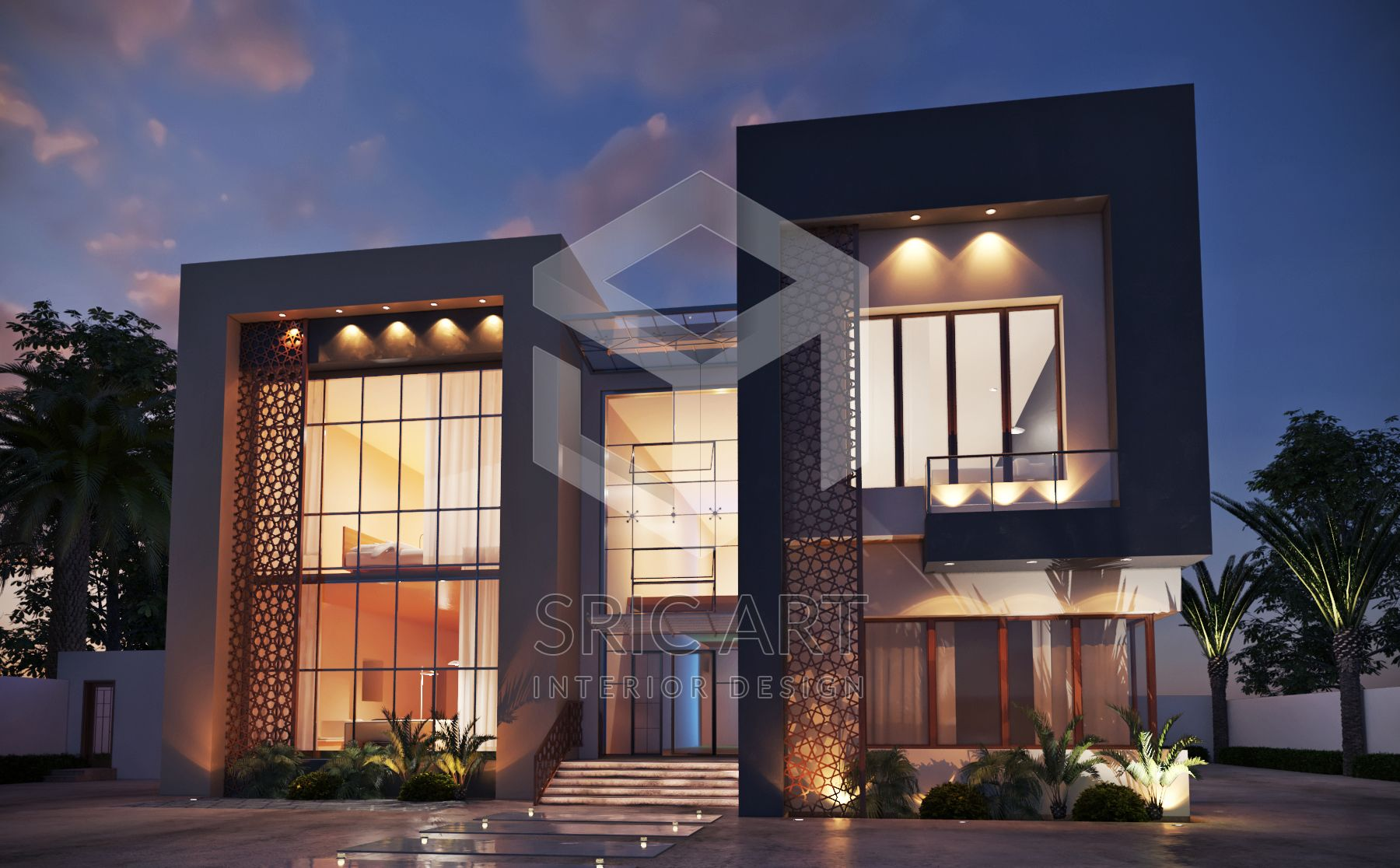 External Design Villa Design Interior Design Decoration Villa External Design 3d Design Sric Art Sri Villa Design Palace Interior Exterior Design