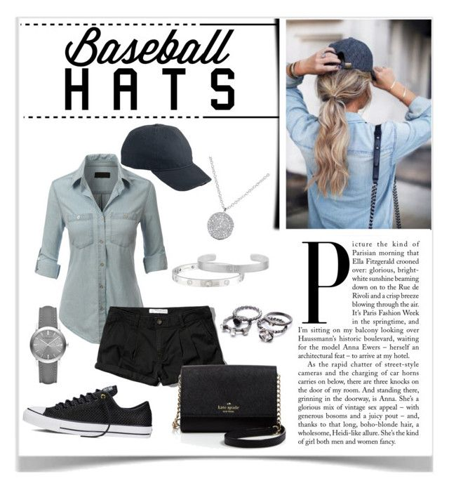 """""""Baseball Hats"""" by lalalaballa22 ❤ liked on Polyvore featuring LE3NO, Abercrombie & Fitch, Converse, Kate Spade, Cartier, Burberry, Dorfman Pacific, baseballcap and baseballhats"""