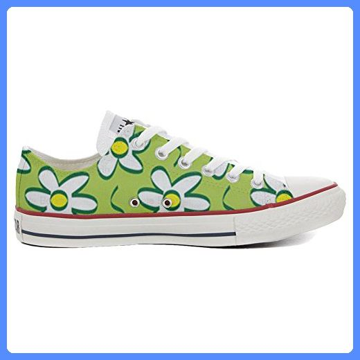 Converse Original CUSTOMIZED with printed Italian style (handmade shoes) Daisies