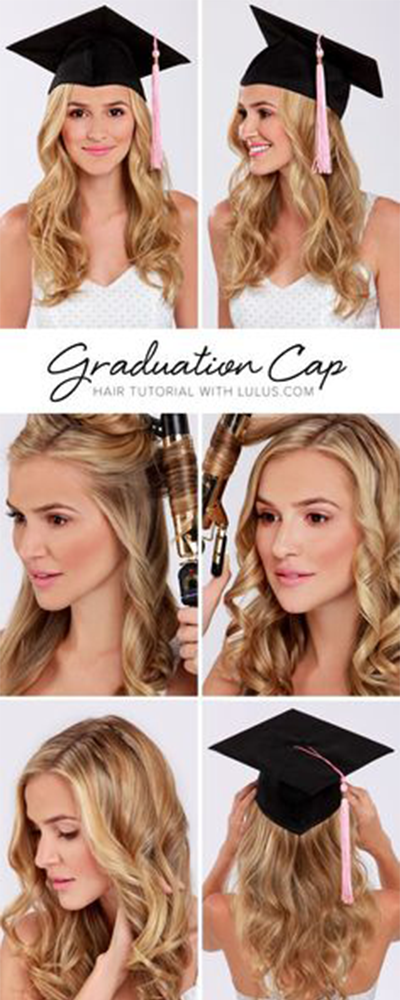 Graduation Hairstyles With Cap Curly Hairstyles Unique Curly
