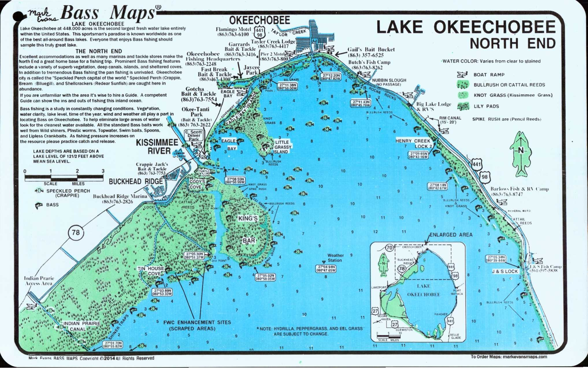 lake okeechobee map lake okeechobee north north end