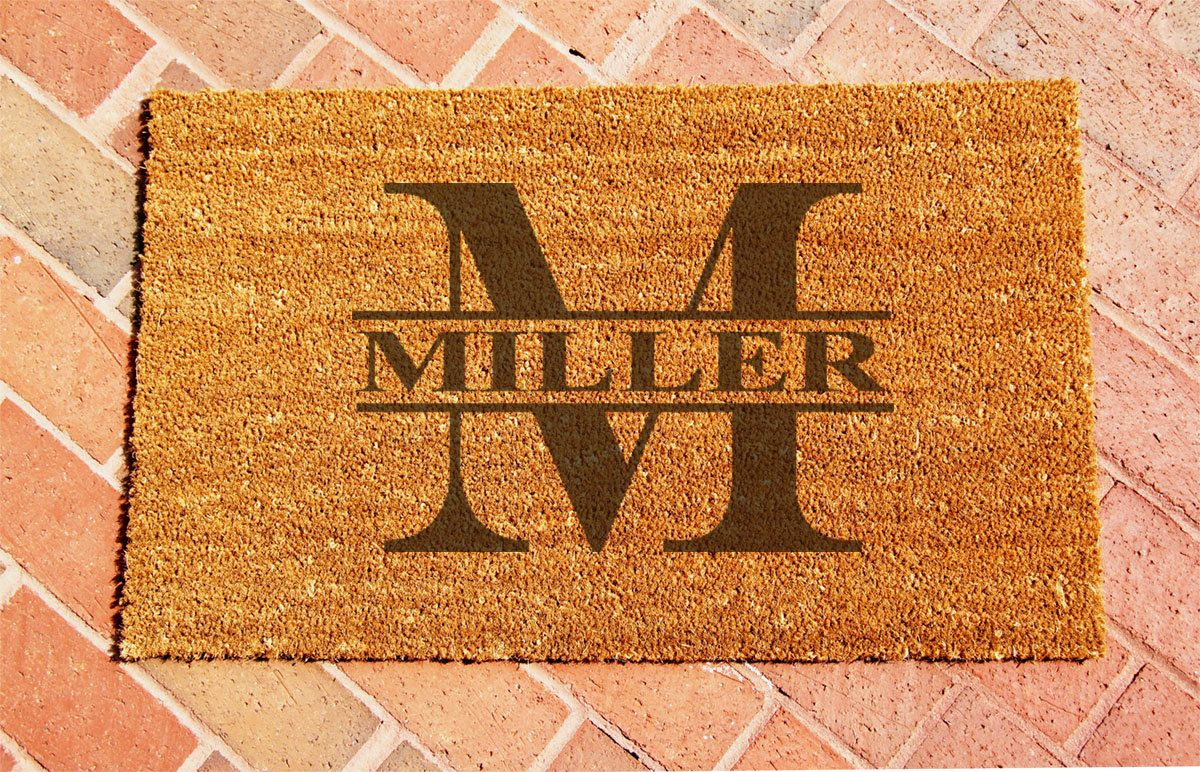 doormat welcome mats a supermom thoughts five minute monogrammed monogram mat dsc random of