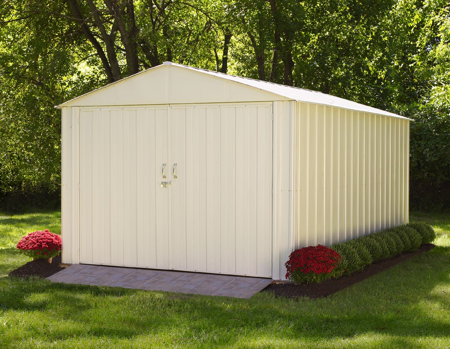 the commander steel storage shed comes in sizes 10 x 10 to 10 - Garden Sheds 10 X 5