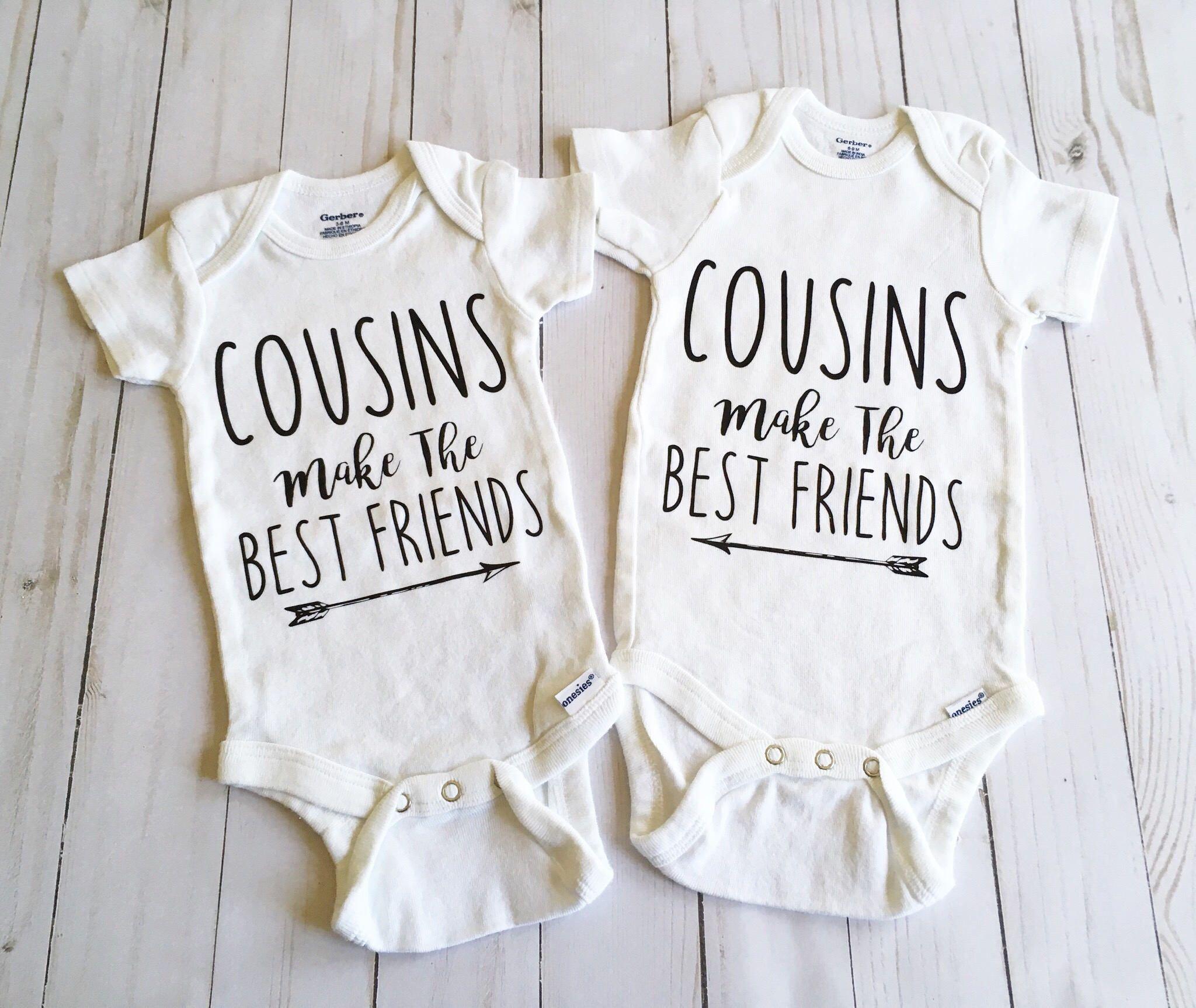 bc5e0b5ed832 Cousin Onesies, Cousin Onesie Set, Cousins, Babies, Best Friends Onesies,  Family