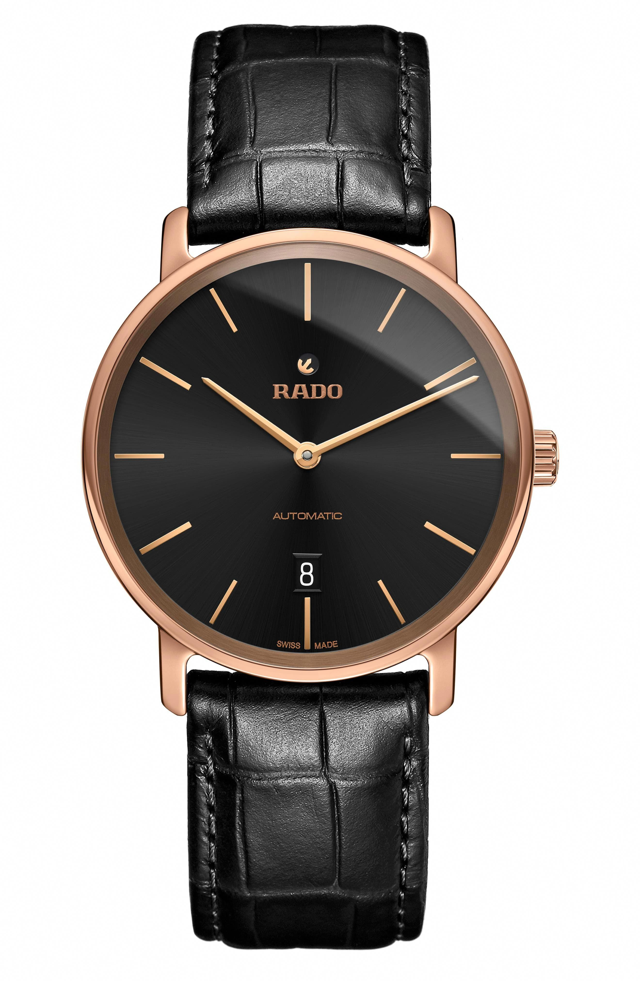 Rado Diamaster Automatic Leather Strap Watch 41mm In 2020 Luxury Watches For Men Best Watches For Men Watches For Men